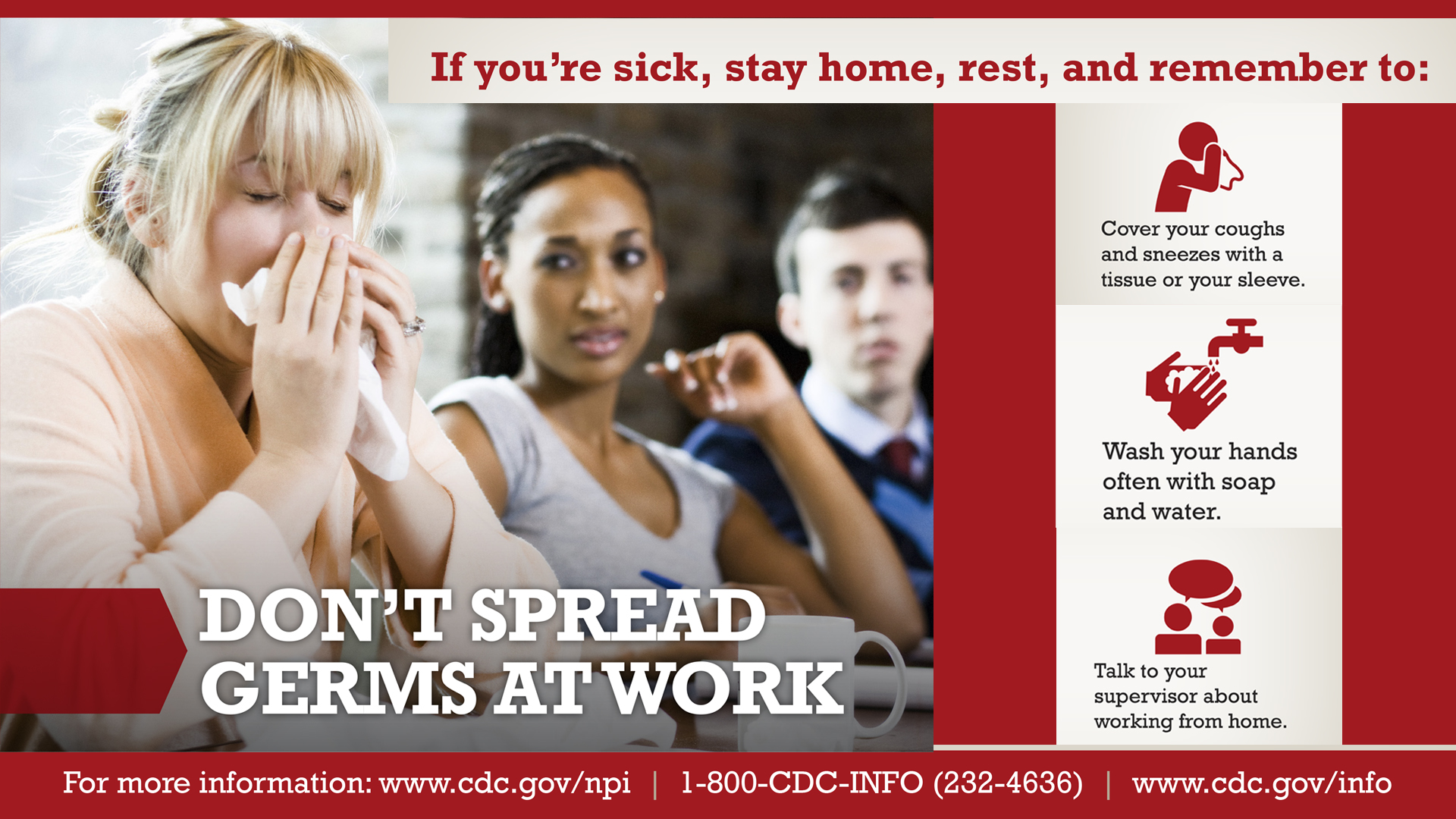 Dont Spread Germs at Work