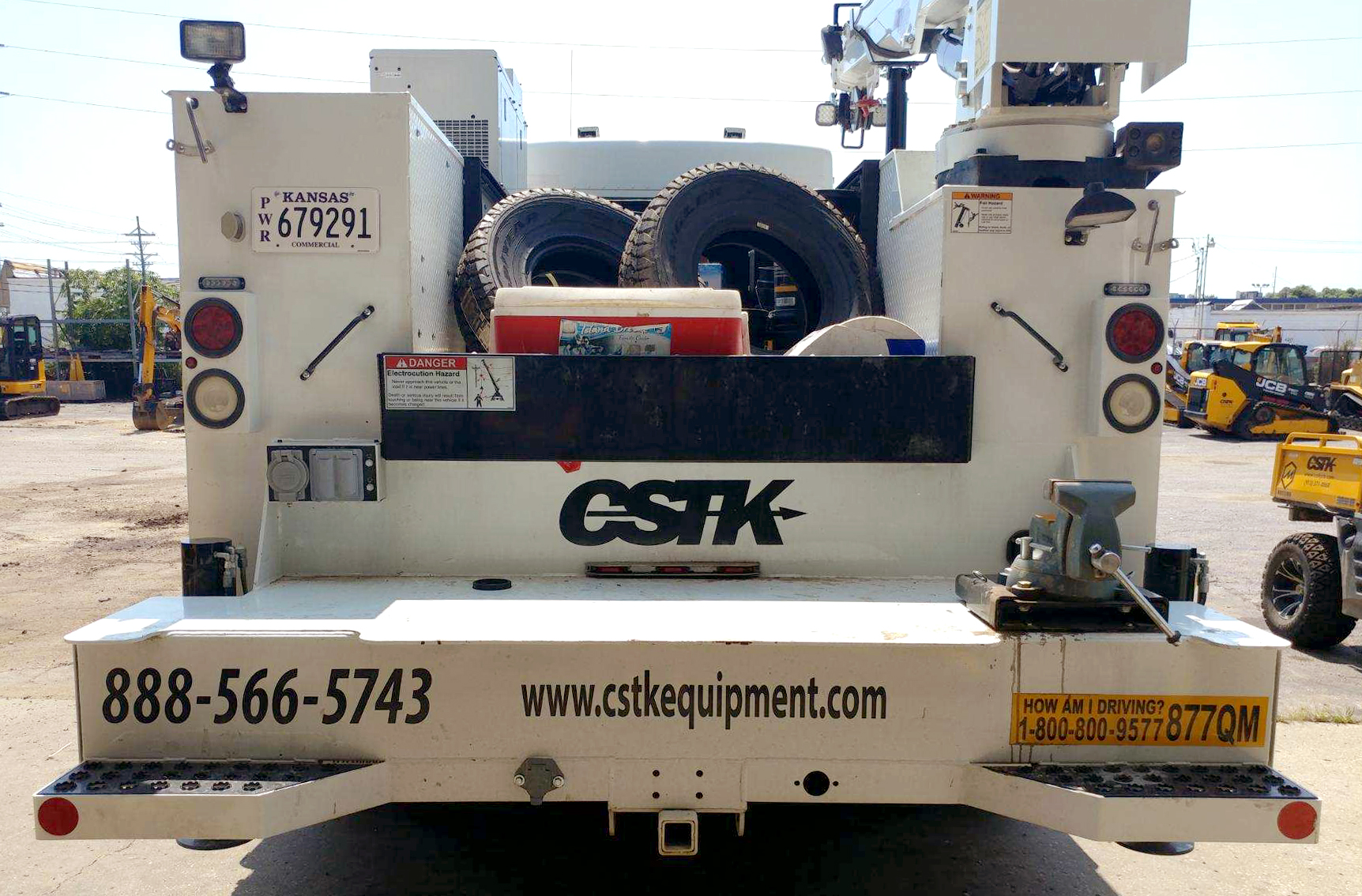 CSTK Kansas City Equipment Vehicle Decals Stickers Van Truck DOT Number Safety Message Custom Graphics Banners Logo Order Vehicle Wrap Graphics Service Construction Equipment Van Car Boat Golf Cart Banner Display Business